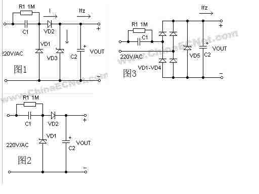 用阻容式降压电路把220v降到12v用的电容和电阻的型号