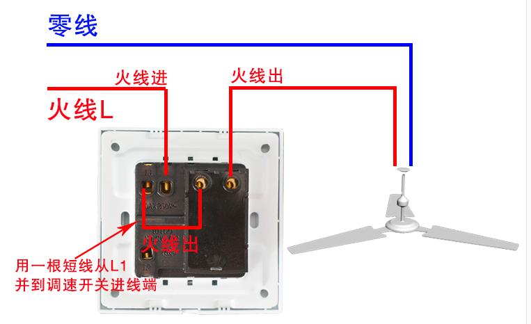 开关怎么接线?(变速风扇,l/l1/l2,以及还有两个接口)