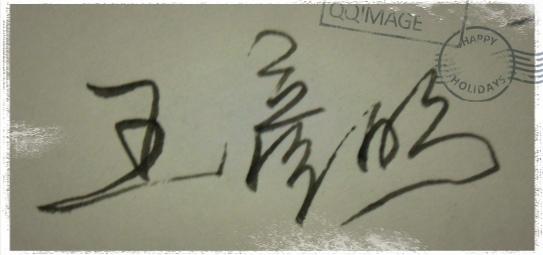 设计签名 请大家帮忙设计一个公务签名 本人名字 王彦明