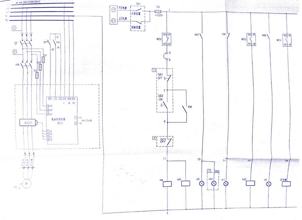 电机控制原理图