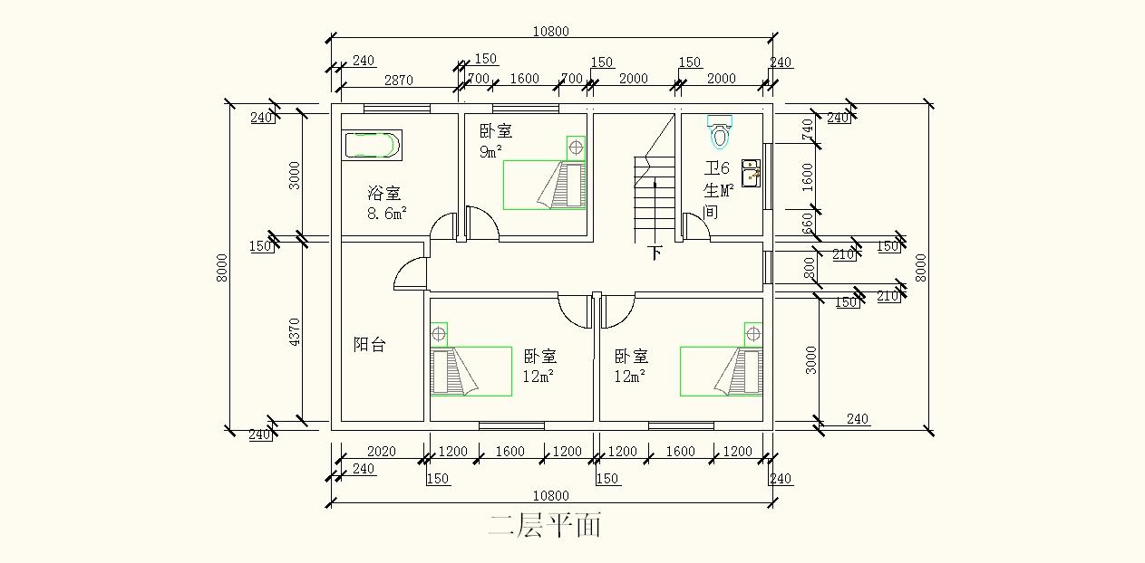 农村二层房屋设计图图片
