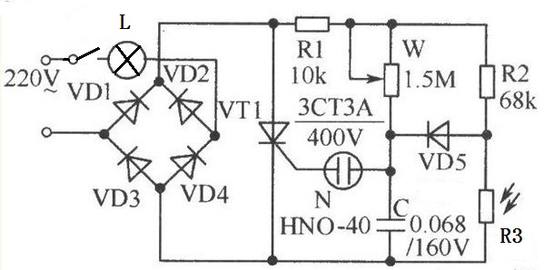 220v转正负5v电路