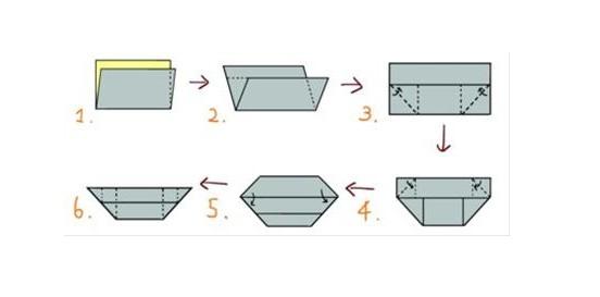一张纸的元宝怎么折啊