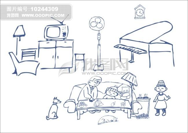 工程图 简笔画 平面图 手绘 线稿 650_459