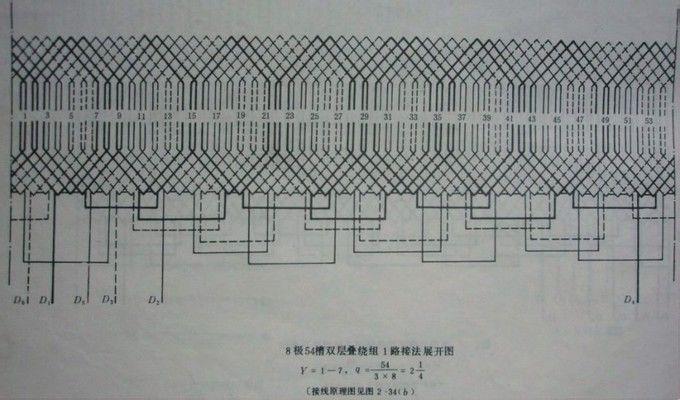 急求48槽4/6极电机布线接线图?谢谢