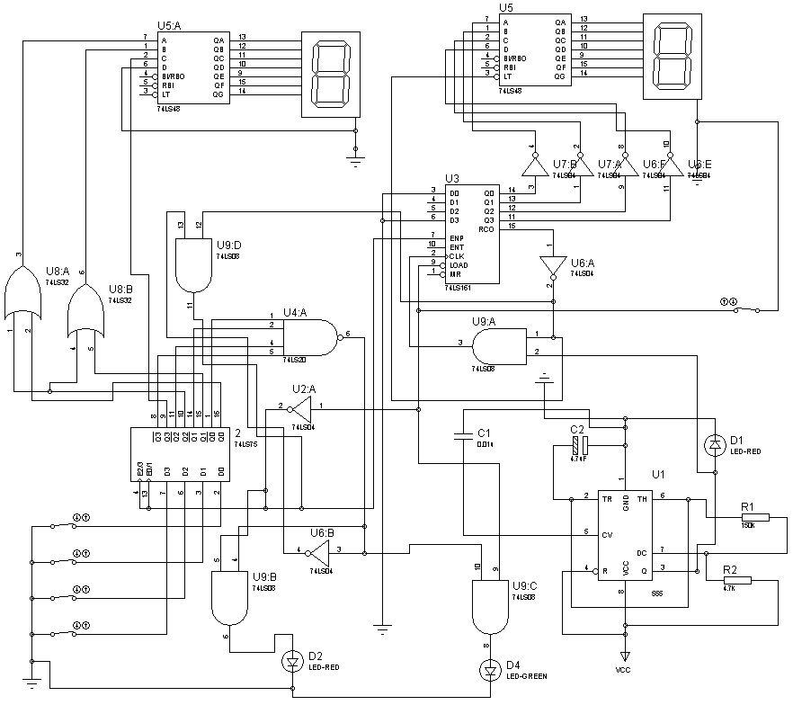 抢答器的抢答器电路图设计