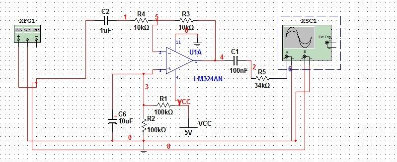 lm324应用电路做的反向交流放大器,为什么就是不能实现偏置