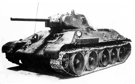 t-34坦克的型号参数