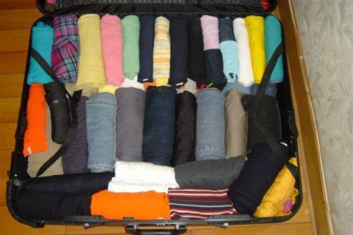 然后,这边有一个卷衣服且不会散开的 图解:http://jingyan.baidu.