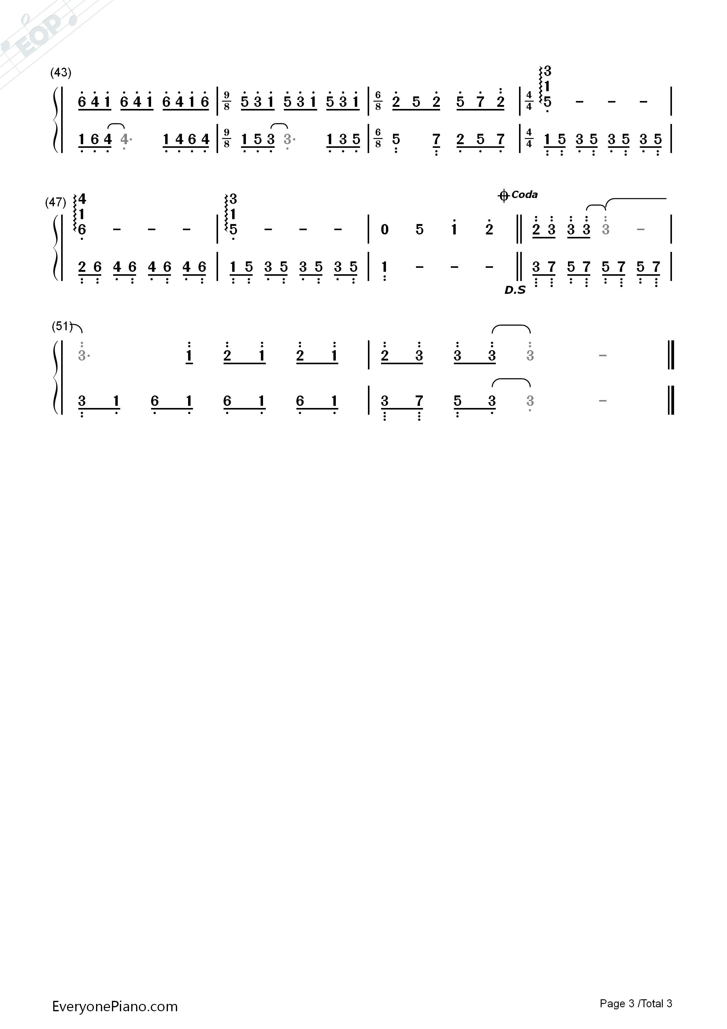 童年的回忆钢琴简谱