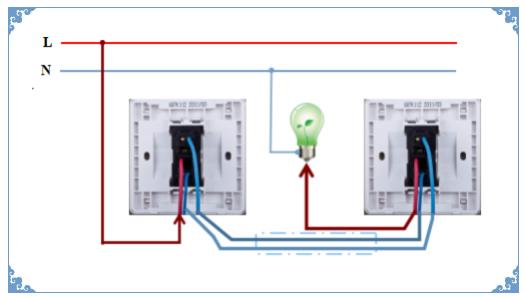 双控灯实物接线图