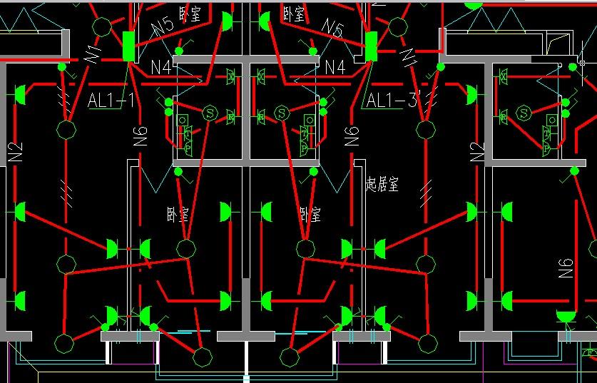 建筑电气施工图图纸零瓷砖学贴基础符号图片