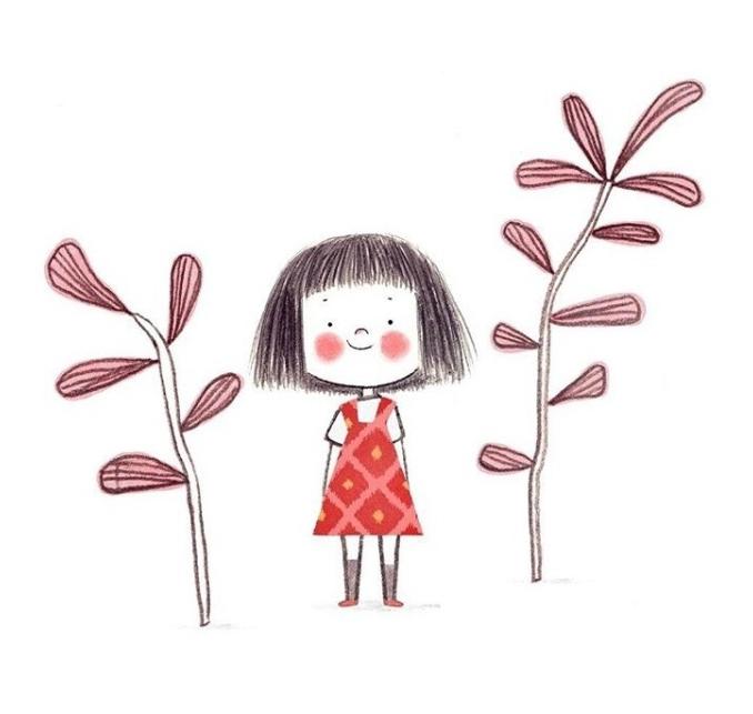 好像不是情侣头像,是在ins上手绘的一组超萌的小女孩插画(ins:aleazui