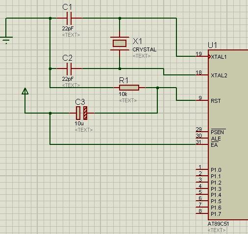 51单片机跑马灯电路图(左右来回循环),8个led灯分别接