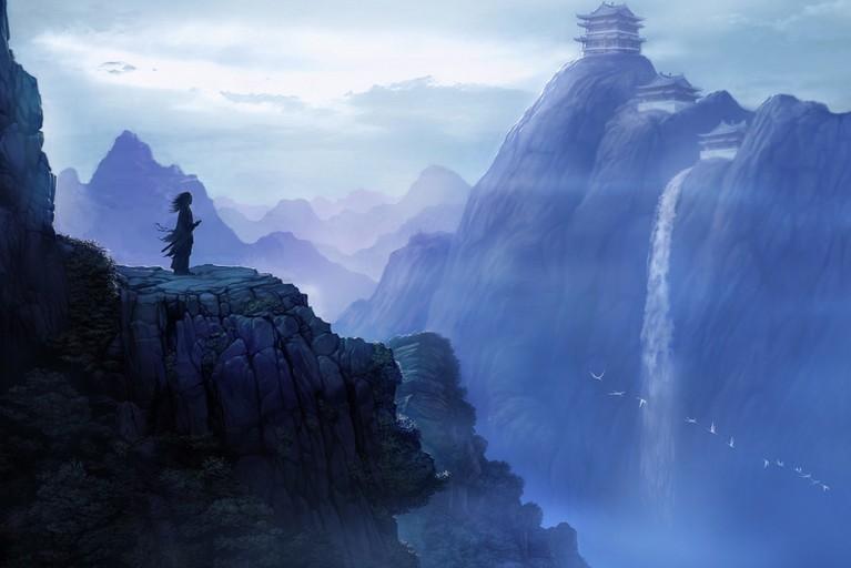 仙侠迷,画迷们进来看看 跪求该图完整版,或意境相似的