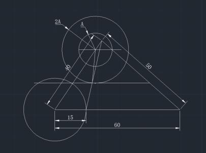 CAD中把一个水平图形旋转到与一根斜线autocad所画的三维图形图片
