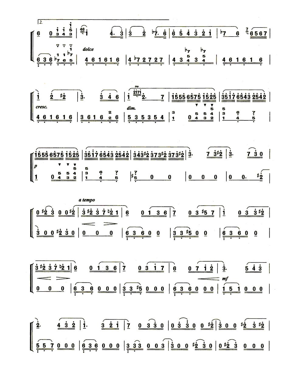 致爱丽丝钢琴数字简谱