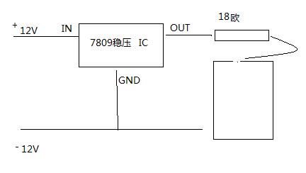 l7805cv组成的usb供电电路