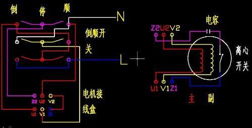 这个单向电动机怎么接线 和接