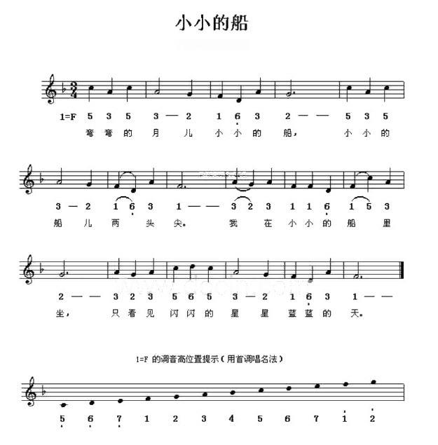 电子琴简谱练习曲