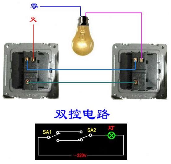 展开全部 双开怎么接线 我理解您的意思是不是两个地点控制一个灯的