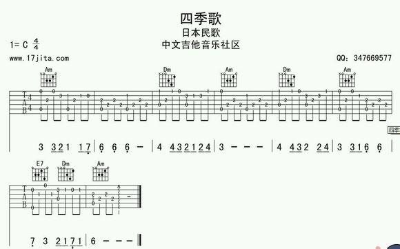吉他指弹的谱子怎么看