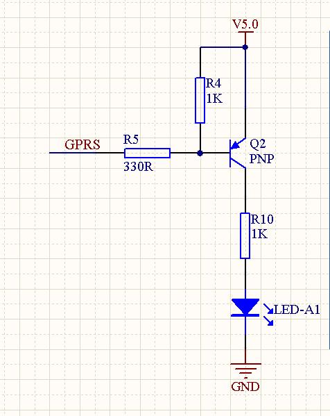 pnp三极管开关电路图