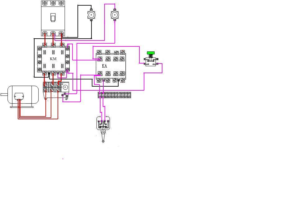 用按钮开关(常开)启动电动机用行程开关(常开)停止电动机,选什么样的