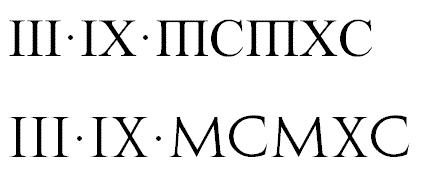 谁知道这两排罗马数字各是什么字体,纹身用图片