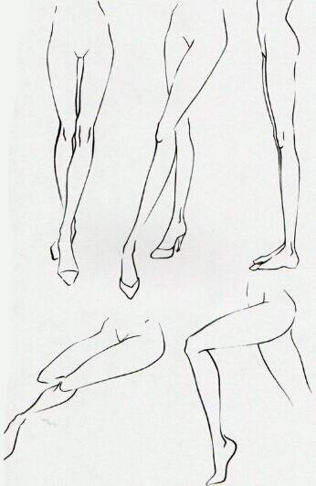 动漫人物怎么画腿