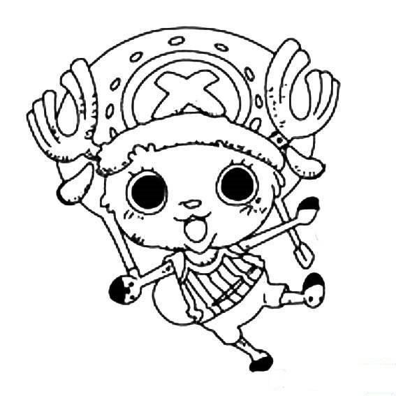 求海贼王里面乔巴的可爱的头像,要能印在t恤上的或者类似简笔画的那种