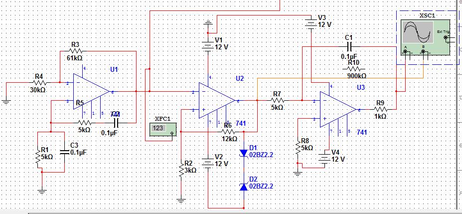 为什么我方波用积分运算电路得不出三角波?