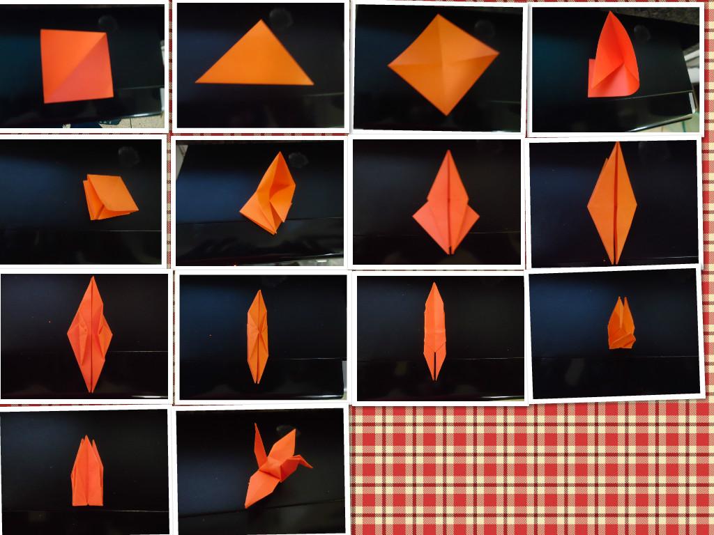 翅膀会动的的千纸鹤折法的图片