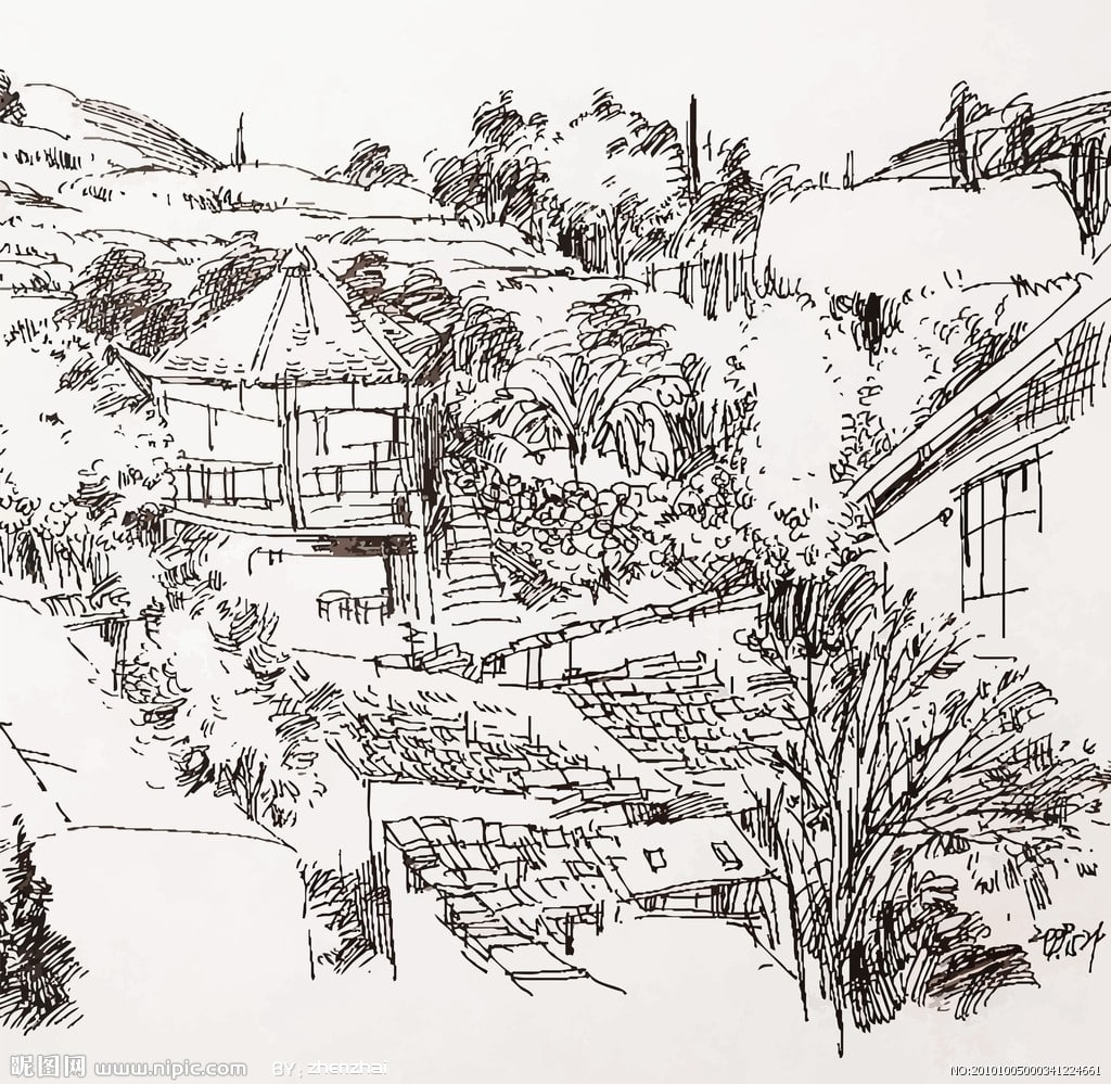 田园风景的简笔画有哪些