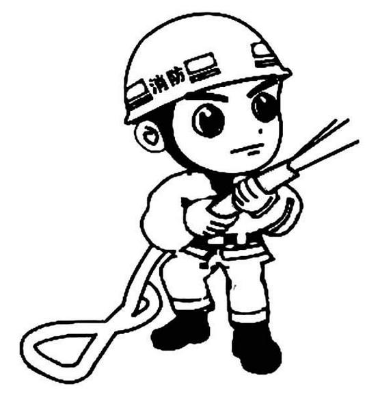 怎么画消防员简笔画,消防员简笔画图片