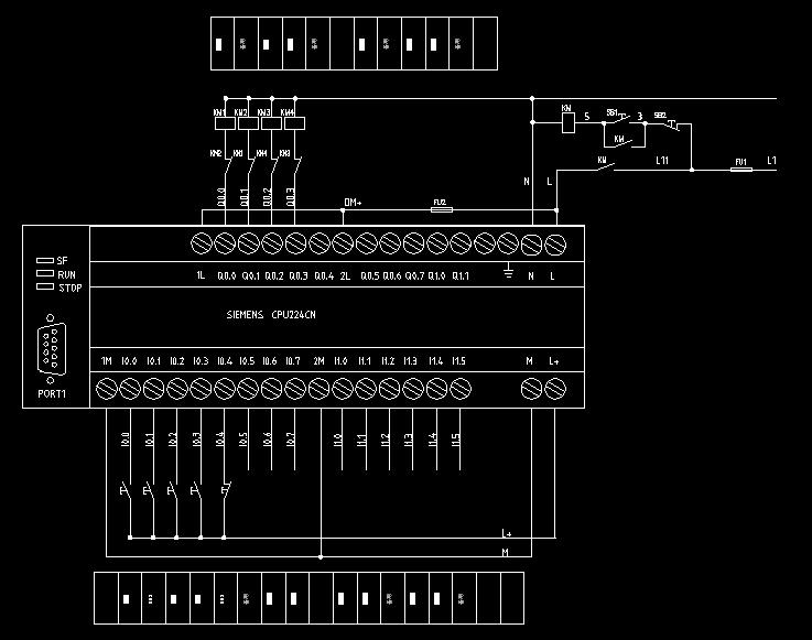 需要西门子plc控制电机正反转图做参考