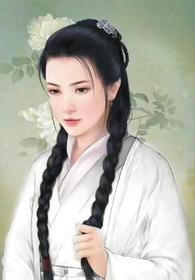 谁有手绘古装美女图片像这样的