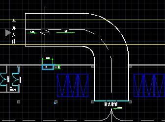 cad地下坡道图纸画法格式cad入口是什么车库图片