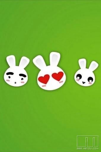 超萌可爱卡通小兔子表情