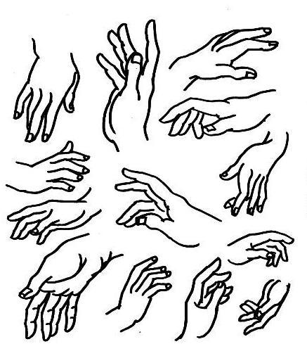好看的手手绘图片