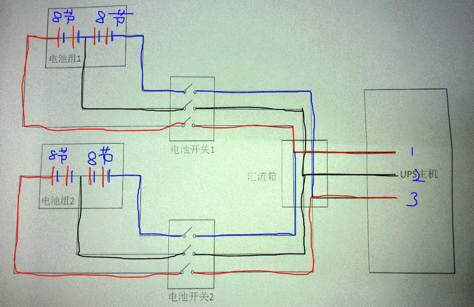 这个只是具体接线方式图,具体电池个数得出ups厂家提供的信息为标准!
