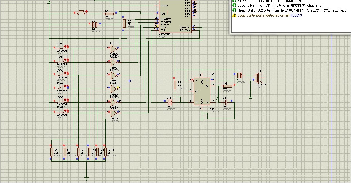 proteus 仿真单片机电路输出黄电平求帮忙
