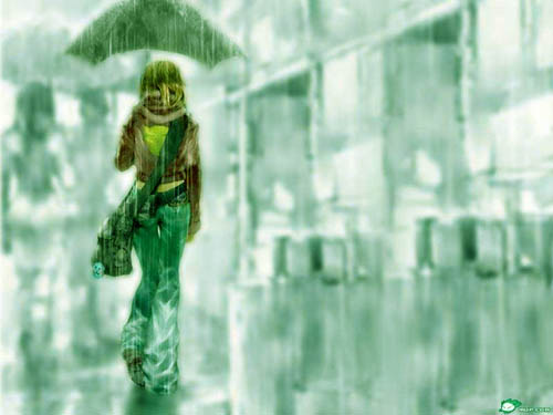 女孩打伞背影漫画 出处是那一部作品 那一年的 作者是