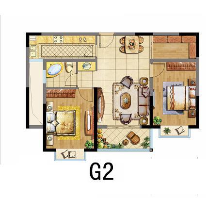 求这种户型的装修效果图,想把餐厅对面储藏室改成小卧室