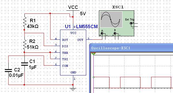 用555定时器制作的10hz方波发生器电路结构及参数如下.