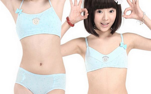 1,少女内衣 其实,12岁女孩子胸部刚刚发育,只需要穿少女内衣就可以了