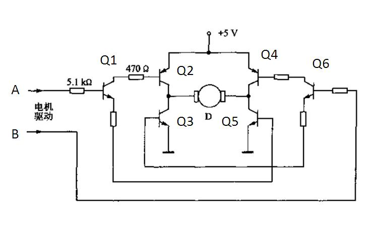 为了方便分析起见,将你的电路图中三极管作了编号,当a端为高电平时q