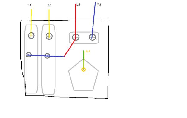 插座上有l,n,地!就接线图,面板型号公牛g06e333!上图