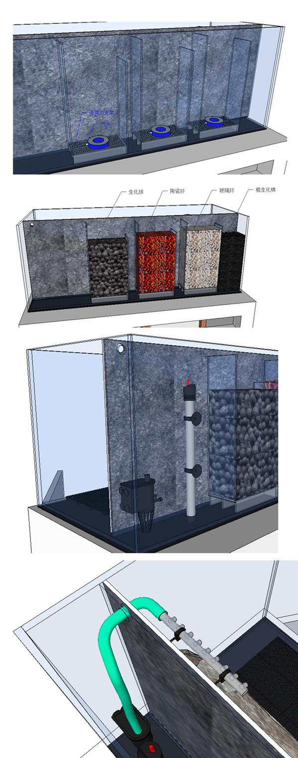 diy背滤气举式鱼缸设计完成,请行家一起看一下,预测效果,并有一些小问