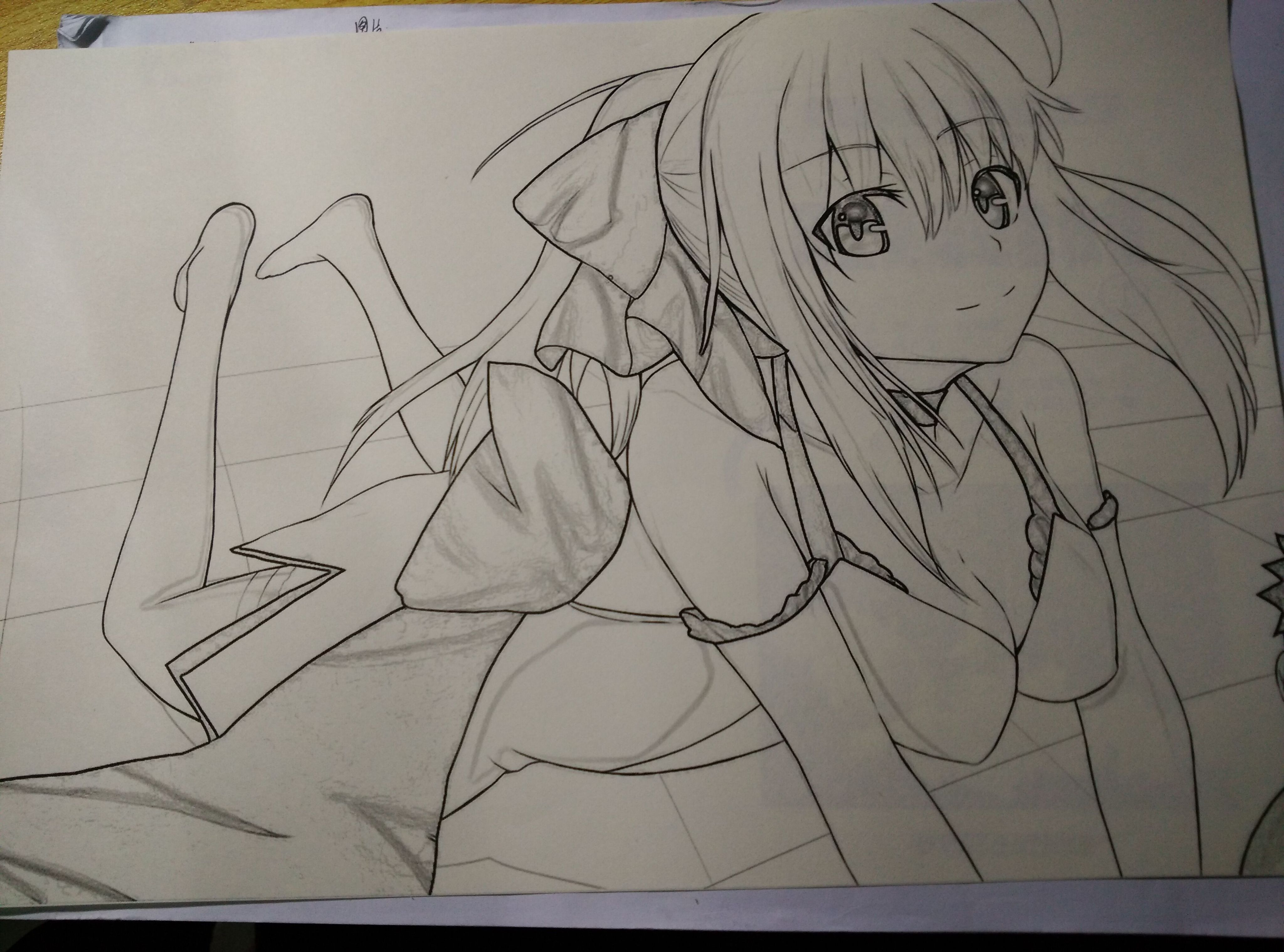 saber手绘铅笔画